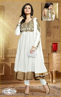 Netted Churidar Suit