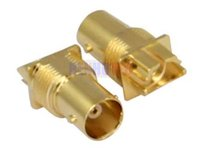 High-End Gold Plating Bnc Jack Connector Pcb Edge Mount Receptacle Isolatet