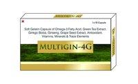 Multigin 4g (Omega-3 Fatty Acids(Epa+Dha)+Green Tea Extract+Grape Seed Extract+Ginkgo Bilob+Ginseng+ Vitamins+Minerals+Antioxidant+T.E Softgel Capsule)
