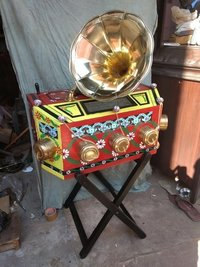 Painted Wooden Made Bioscope