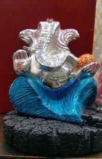 Silver Polished Ganesha Idols