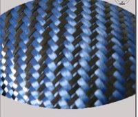 Carbon Blue Aramid Twill Blended Fabric Roll