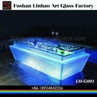 LED Glass Bar Table