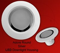 Round Adore Silver Led Downlight Housing