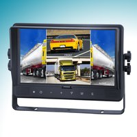 9 Inch Quad Car Monitor With Built-In Dvr With Touch Screen And Button Mo141d