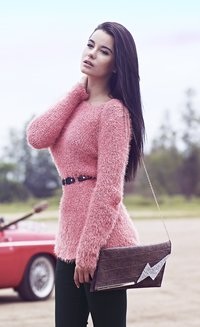 Pink Coloured Winter Sweater