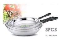 Stainless Steel Frying Pan Set