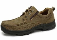 Men'S Genuine Leather Lace Up Casual Flat Shoes
