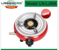 Mini Camping Gas Stove With Brass Burner And Manual Ignition