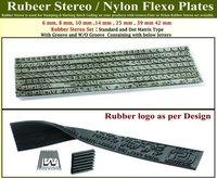 Rubber Stereo Grooved/ Flate Set
