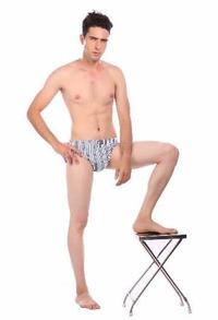 Unico Men's Striped Briefs