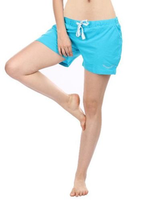 Turquoise Solid Shorts
