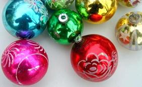 Antique Glass Xmas Christmas