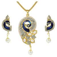 Designer Peacock Pendant Set