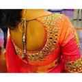 Ladies Stone Work Saree