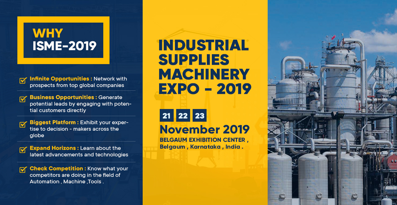INDUSTRIAL SUPPLIES MACHINERY EXPO - 2019