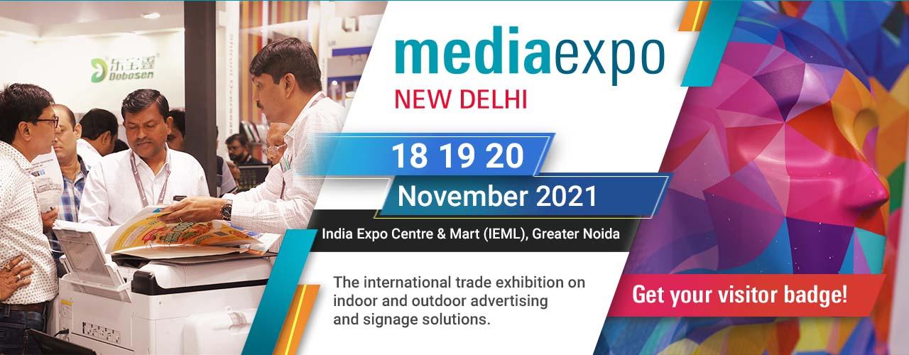 D Printing Exhibition China : Media expo delhi screen printing exhibition signage