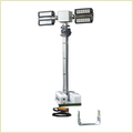 3.5m Vehicle Roof Mount Mobile Lighting Mast Towers/4x120w Led