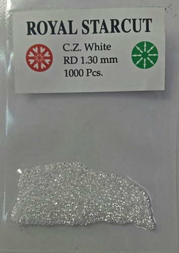 Cubic Zirconia White Machine Cut Round