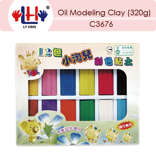 Oil Modeling Clay (12 Colors)