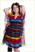 Voile Striped Printed Tunics