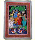 Patachitra Krishna And Radha