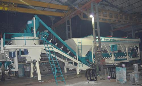 Stationary Concrete Batch Mixer