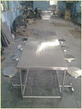 Stainless Steel Dining Table 8 Seater