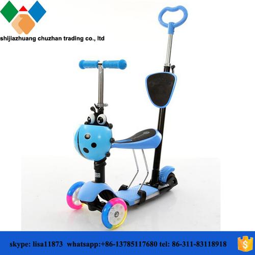 Kids' Balance With Kick Scooter Pu Wheels