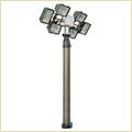 9m Vertical Pneumatic Telescopic Mast Lighting Tower 6x1000w Lamps