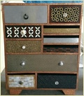 Home Decor 10 Drawer Chest With Copper Metal